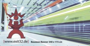 Bauzaun Banner 340 x 173 cm