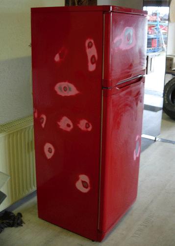 Kühlschrank vorher rostig