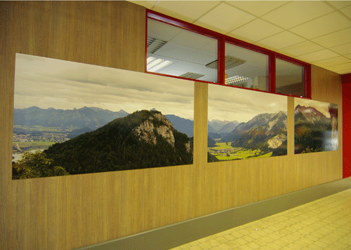 Wandbild 3teilig Alpenpanorama links
