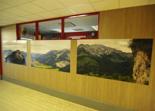 Wandbild 3-teilig Alpenpanorama rechts