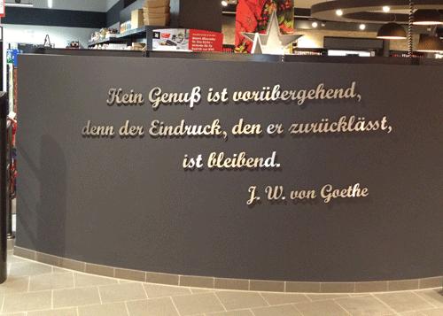 Spruch Goethe Edelstahl