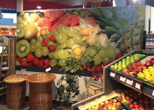 Wandbild Obst und Gemüse