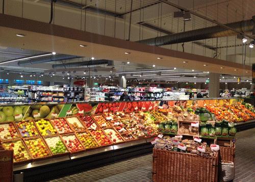 Collage Obst und Gemüse 14 Meter