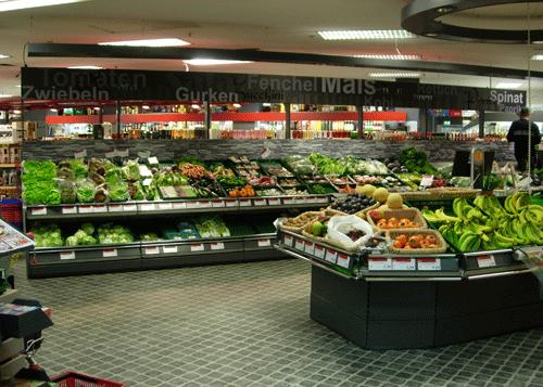 Raumteiler Obst und Gemüse